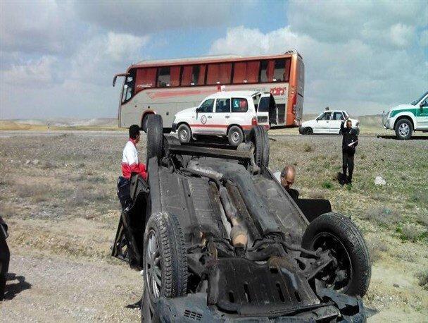 واژگونی خودروی پژو در خوزستان 2 کودک را به کام مرگ کشاند